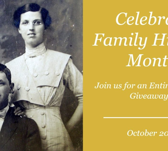 Celebrate Family History Month!!!