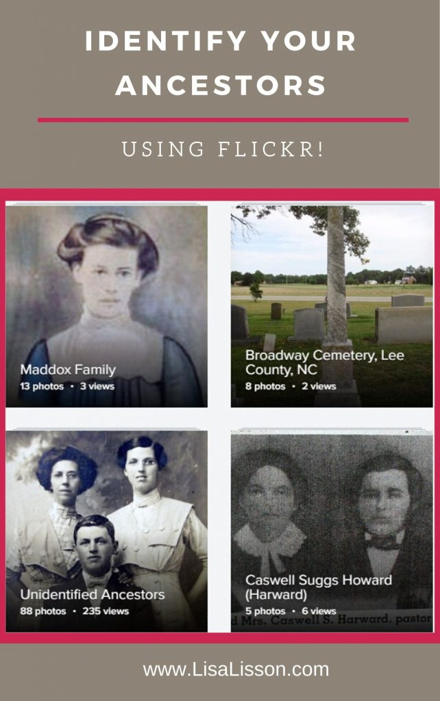 Use Flickr to get unidentified photos of your ancestors identified.
