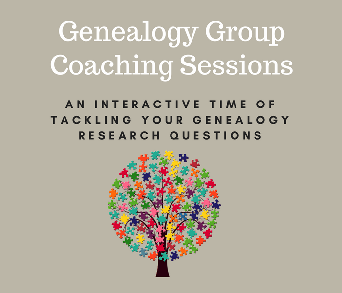 Genealogy Group Coaching Sessions