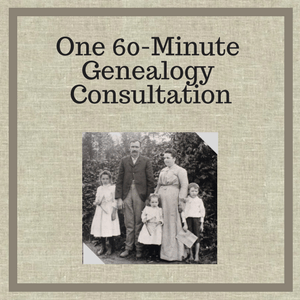60 Minute Genealogy Consultation