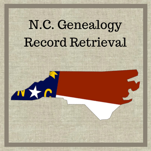 North Carolina Genealogy Record Retrieval