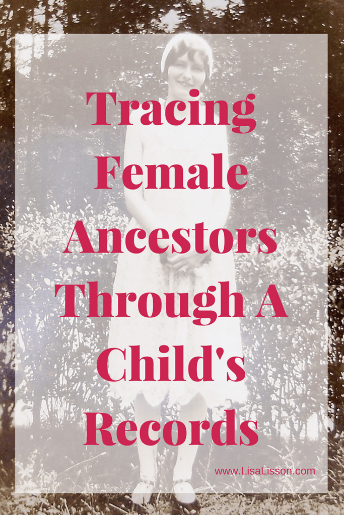 "Tracking down our female ancestors requires thinking ""outside the box"".  Always focusing on her may not yield the desired results.  By taking our focus off of our female ancestor, we can be sure of exhausting all possibilities of finding her in the records."