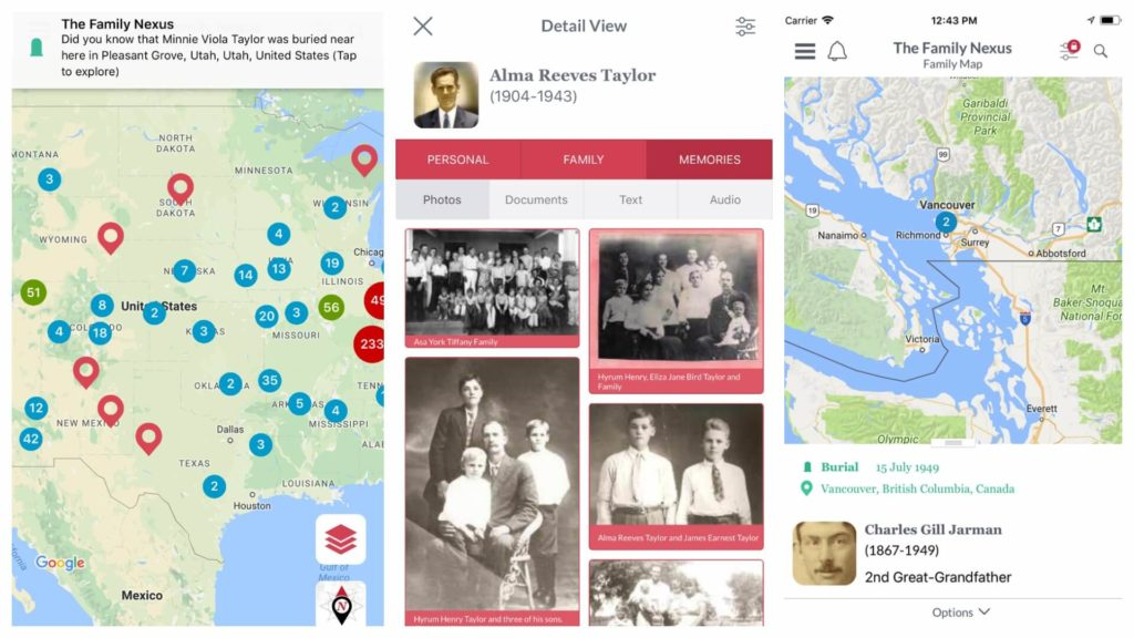 The Family Nexus App allows you to explore where your ancestors' life events took place and walk where your ancestors walked! #genealogy #ancestry #areyoumycousin #familynexus #familyhistory