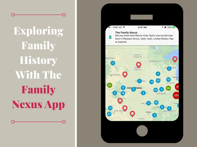 The Family Nexus App allows you to explore where your ancestors' life events took place and walk where your ancestors walked!