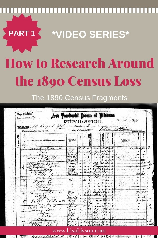 Is your genealogy research stalled with the loss of the 1890 census record? Explore the fragments of the census records that did survive! #genealogy #1890census #ancestors