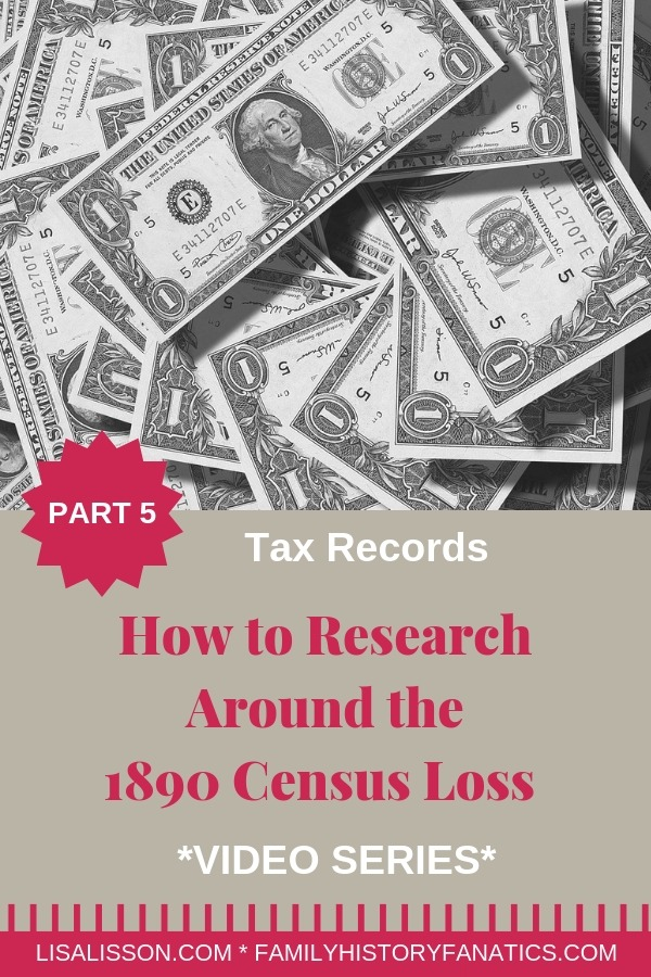 Your ancestor's tax records can serve as a substitute for the lost 1890 census record. See how you can use tax records to track your ancestors. #genealogy #1890census #ancestors