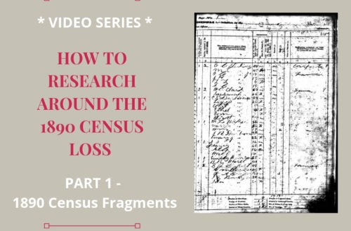 Most of the 1890 census was lost, but a few 1890 census fragments did survive. Genealogy researchers should include those fragments in their search.