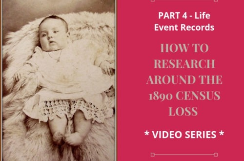 Is your genealogy research stuck in 1890? Researching the life events of your ancestors can place them in time and place despite the 1890 census loss.
