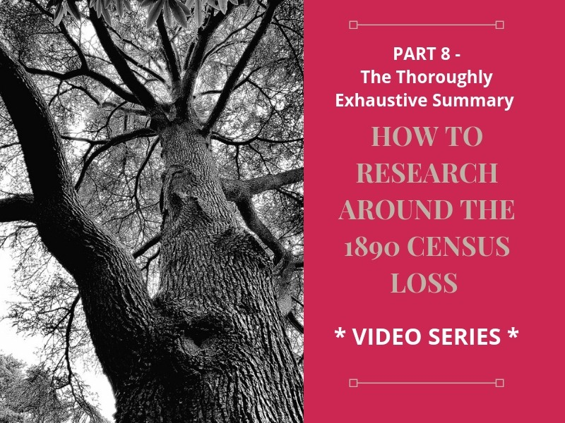 8 part video series wrap up to help genealogy researchers find their ancestors! #genealogy #1890census #ancestors