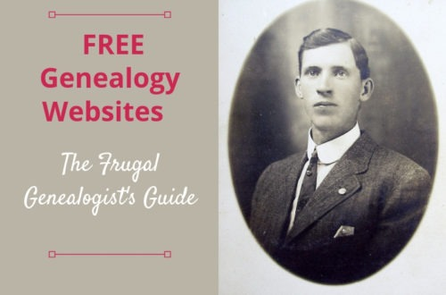 A list of free genealogy records to search for your ancestors. Yes, you can be frugal and save money while researching your family history.