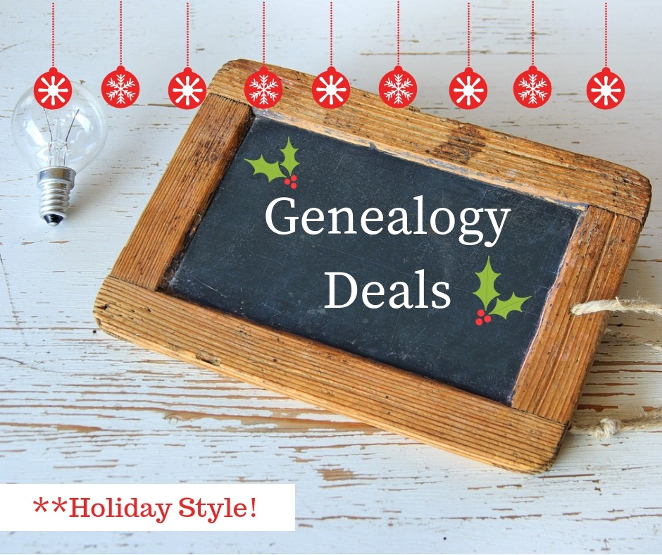 Shop this week's genealogy deals to save money on genealogy DNA test kits and genealogy related books and products. Let's go shopping!