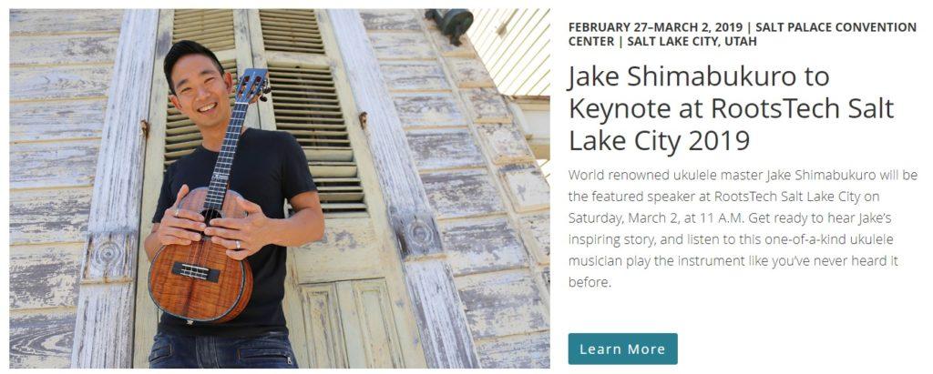 Rootstech Keynote Speaker Jake Shimabukuro