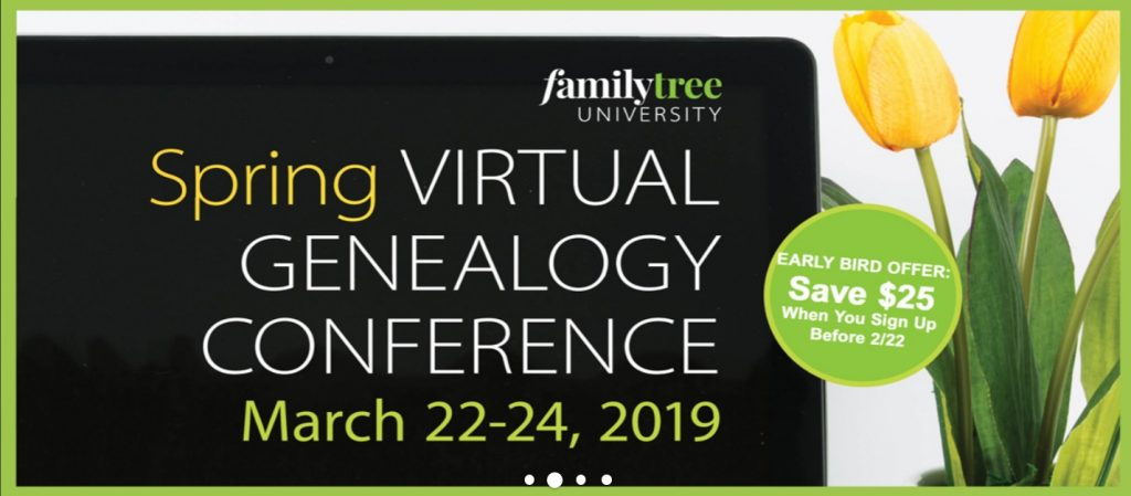 Spring virtual genealogy conference