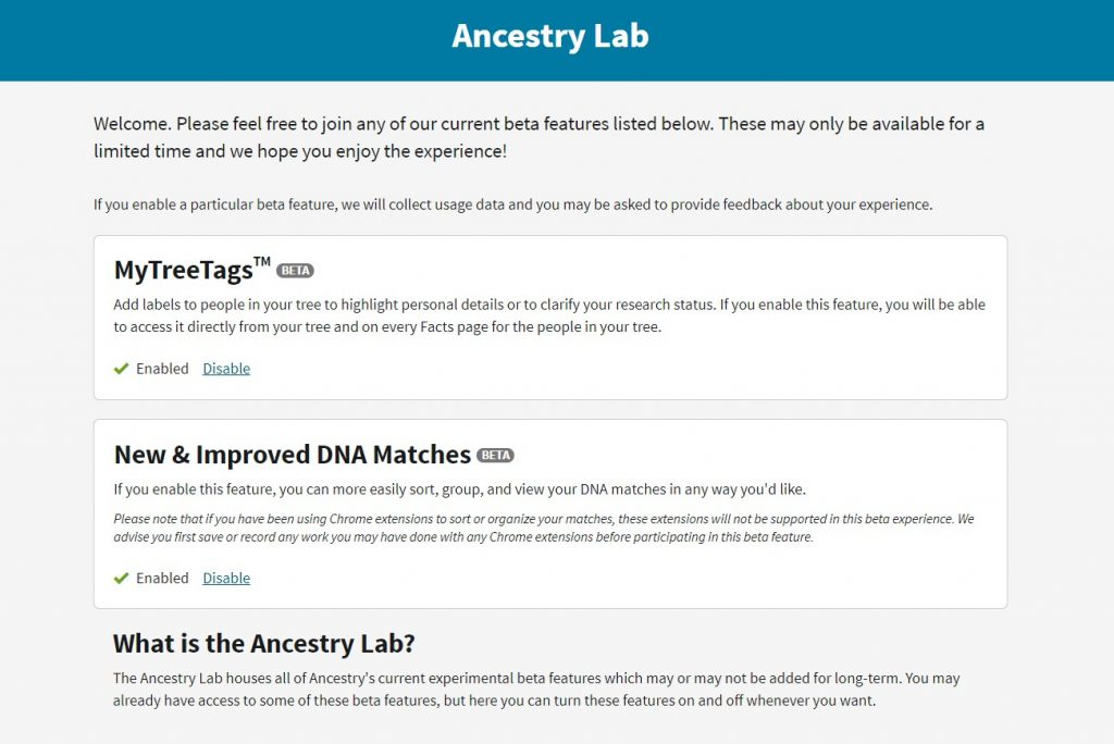 Try Ancestry.com's NEW MyTree Tags tool. Use tags (or labels) to improve your family tree organization and manage your genealogy research projects easier. #genealogy #ancestors #familytree