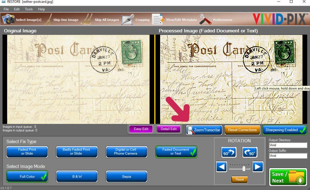 Vivid-Pix Transcribing Old Documents