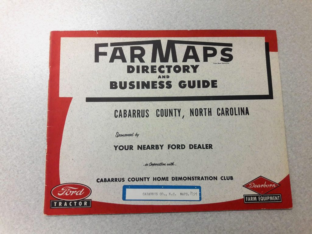Farm Maps Directory for Cabarrus County