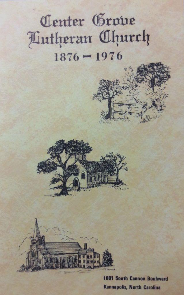 Center Grove Lutheran Church, Kannapolis, NC Church History